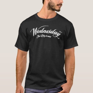 Wednesday The City is ours - slight distress white T-Shirt