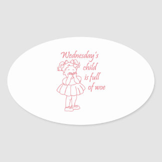 Wednesday's Child Oval Stickers