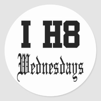 wednesdays round stickers