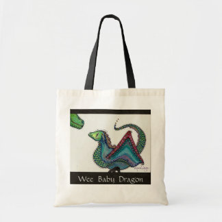 Wee  Baby  Dragon Budget Tote Bag