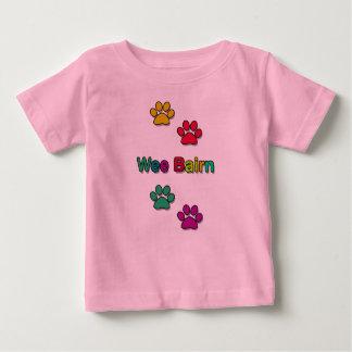 Wee Bairn Paw Print Tshirt for Children