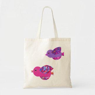 Wee birds tote bag