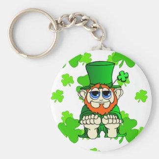 Wee Bit O Irish Basic Round Button Key Ring