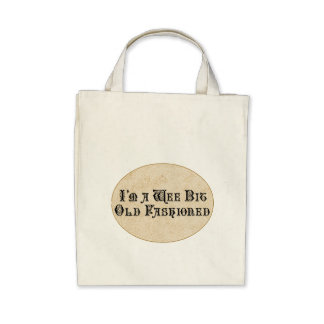 Wee Bit Old Fashioned Tote Bags