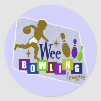 Wee Bowling League Round Sticker