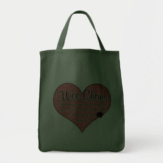 Wee-Chon Paw Prints Dog Humor Canvas Bags