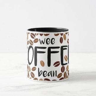 Wee Coffee Bean - Classic White Mug / Black Inside