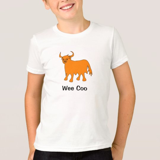 """""""Wee Coo"""" Highland Cow t shirt design"""