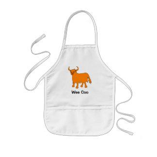 """Wee Coo"" Scottish Highland Cow kids apron"