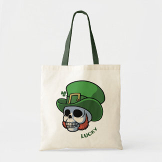 Wee Leprechaun Skull Budget Tote Bag