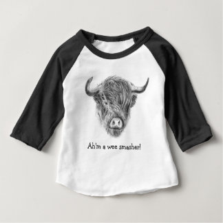 Wee Smasher Highland Cow Baby T-Shirt