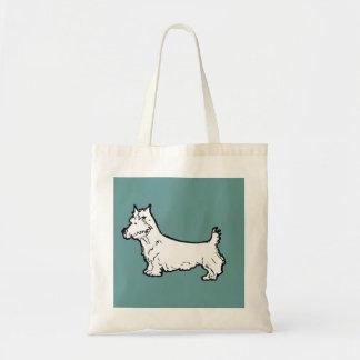 wee terrier-tote bag