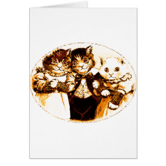 Wee Three Cats Greeting Card
