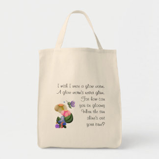 Wee View Snail & Butterfly Grocery Tote Bag