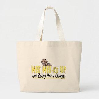 Wee Wee-ed Up Anti Obama Gear Jumbo Tote Bag