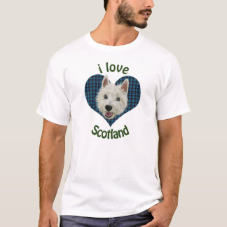 Wee Westie, I Love Scotland T-Shirt