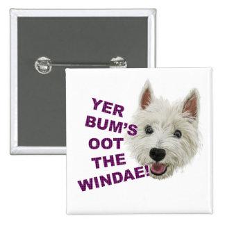 Wee Westie's Words of Wisdom 15 Cm Square Badge