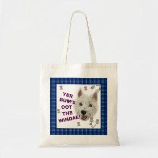 Wee Westie's Words of Wisdom Budget Tote Bag