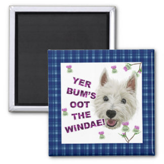 Wee Westie's Words of Wisdom Square Magnet