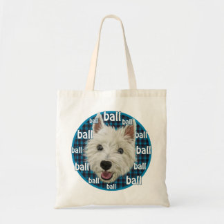 Wee Westie wants a ball! Bag
