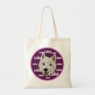 Wee Westie wants some cake Canvas Bag