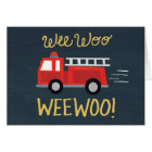 Wee Woo! Firetruck Birthday Card