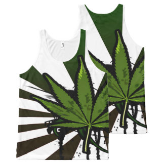 Weed All-Over Print Tank Top