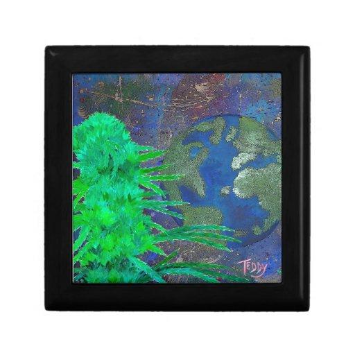 """Weed Art The World"" Jewelry Box"