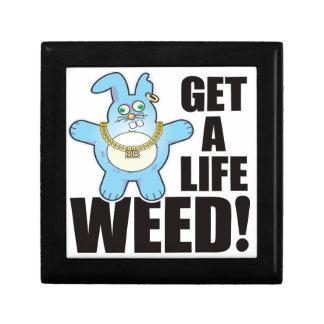 Weed Bad Bun Life Small Square Gift Box