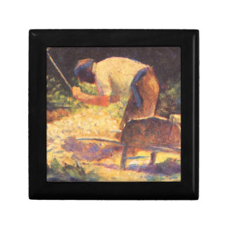 Weed knocking with wheelbarrow by Georges Seurat Gift Boxes