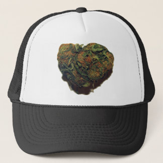 WEED/KUSH HEART TRUCKER HAT