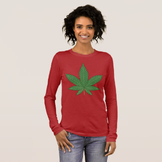 Weed Leaf Long Sleeve T-Shirt