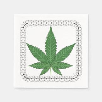 Weed Leaf Tree Swirl Trim Paper Napkin