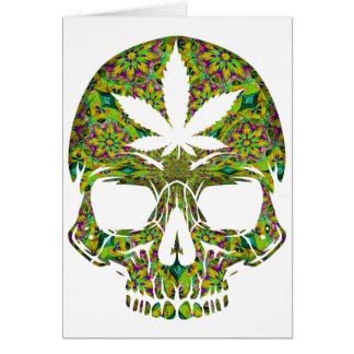 Weed Skull Skeleton Head Card
