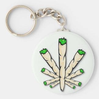 Weed smoking basic round button key ring