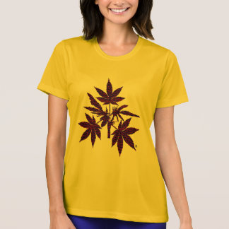 Weed Tree Buds Red-Drawing T-Shirt-2 T-Shirt