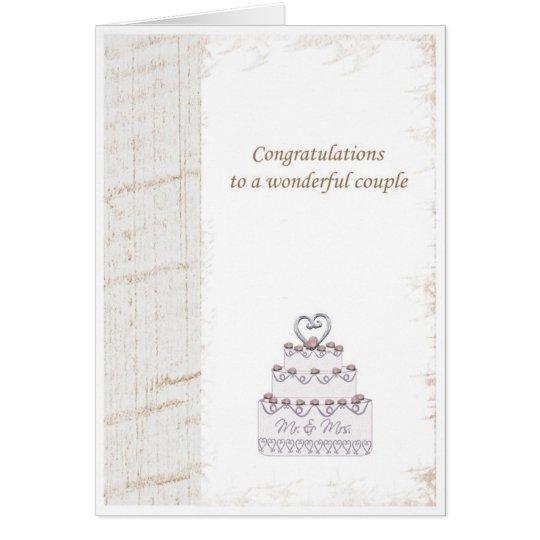 weeding congratulations card