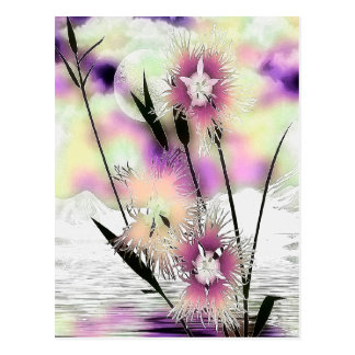 Weeds & Mist Nature Art Postcard