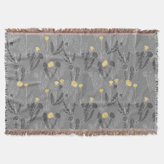Weeds on Wool throw blanket