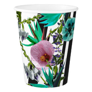 Weeds (V2) - Tropical Nature Collage Paper Cup
