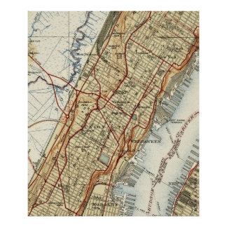 Weehawken, Union City & West New York Map (1935) Poster