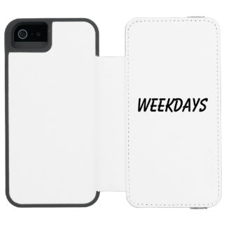 weekdays incipio watson™ iPhone 5 wallet case