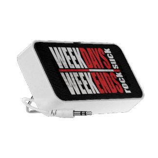 Weekdays Suck Weekends Rock Laptop Speakers