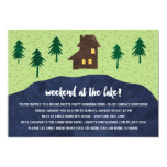 Weekend at the Lake | Rustic Bachelorette Party 13 Cm X 18 Cm Invitation Card