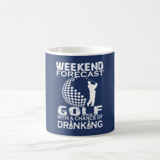 WEEKEND FORECAST GOLF COFFEE MUG