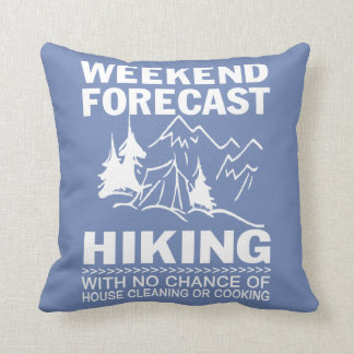 Weekend forecast hiking cushion