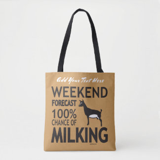 Weekend Forecast Nigerian Dwarf Dairy Goat Tote Bag