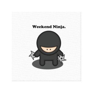 Weekend Ninja Cute Fighter Cartoon Canvas Prints
