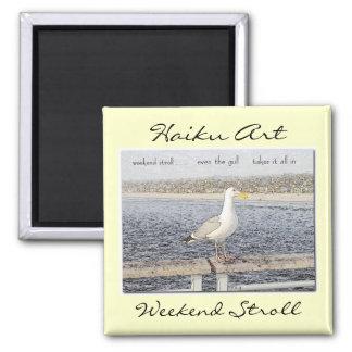 Weekend Stroll Haiku Art Magnet