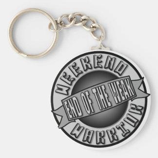 Weekend Warrior Basic Round Button Key Ring
